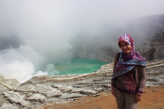 I said, the Blue Lake -- Kawah Ijen